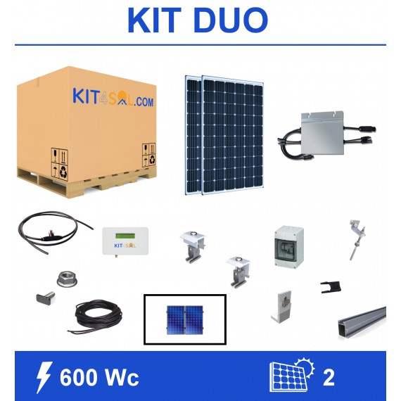 Kit 600Wc 2 modules...