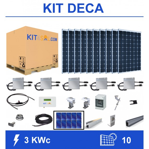 Kit 3KWc 10 modules...